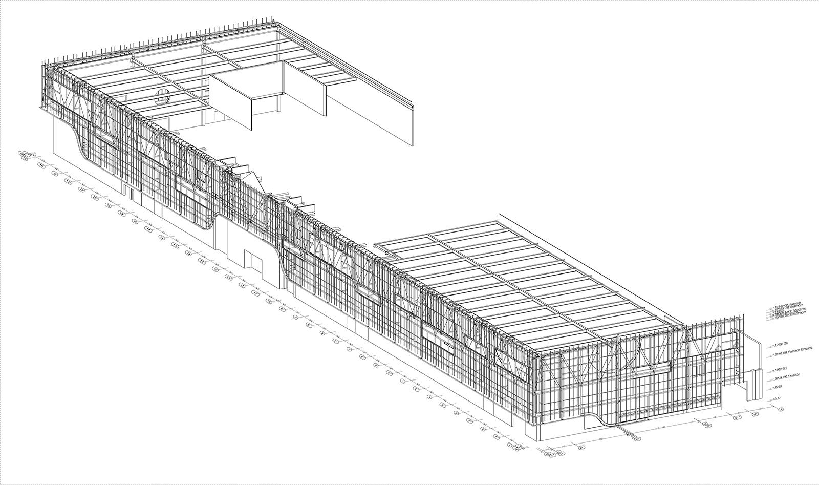 Edeka Berlin - Gesamtkonstruktion