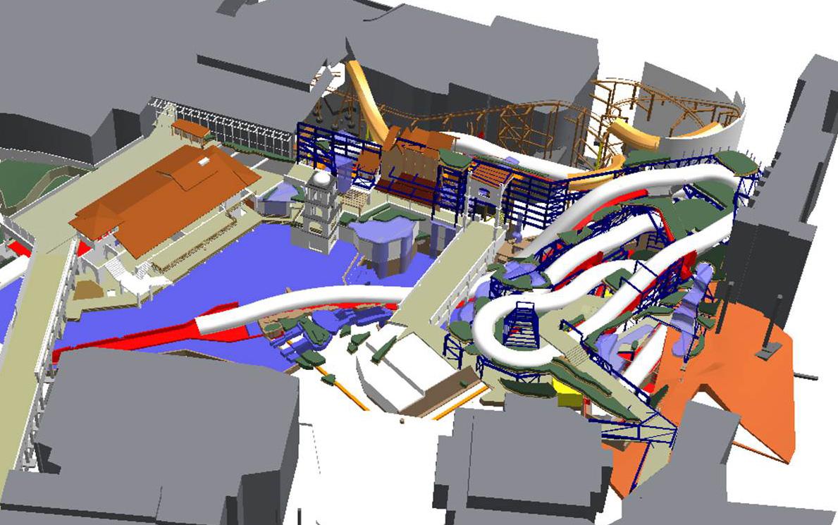Phantasialand Brühl - Visualisierung